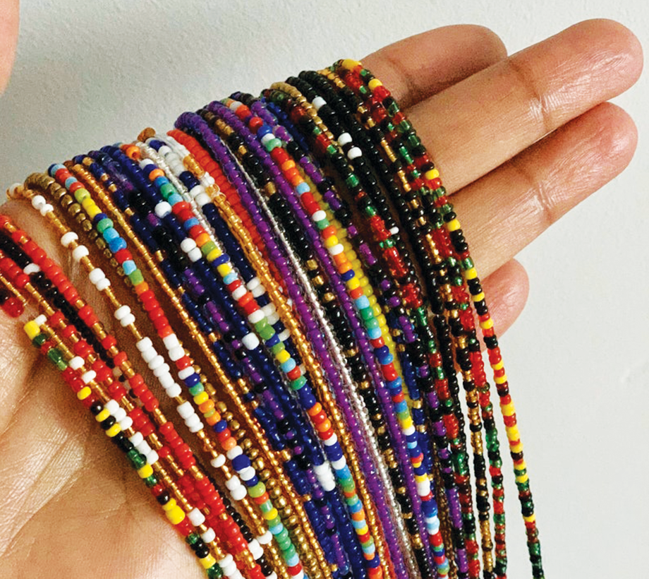 multi color waist beads