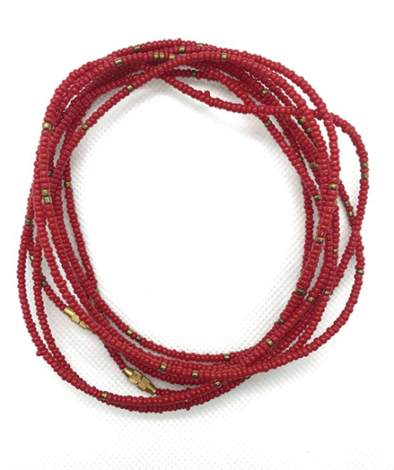 red sparkle waistbeads